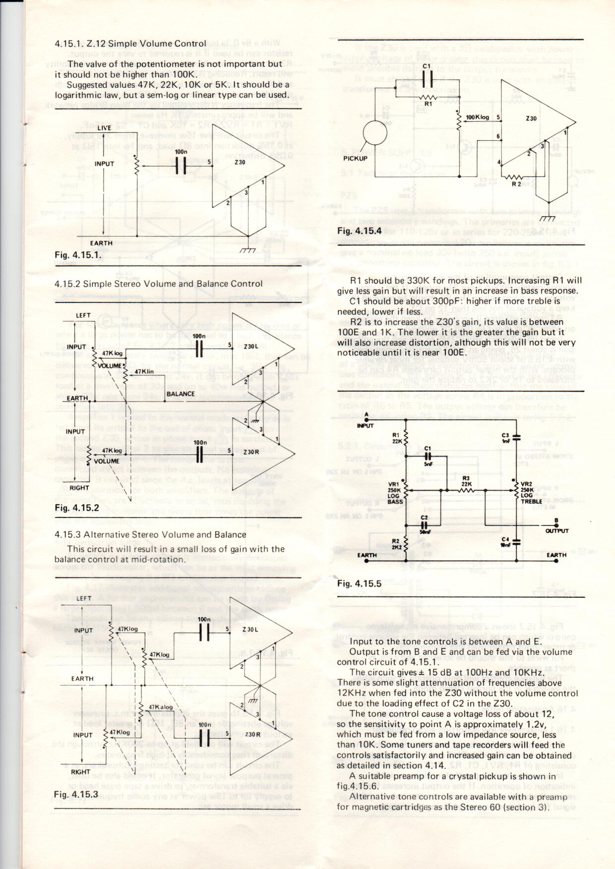 Sinclair Radionics Project 60 Manual Contents Tone Control Circuit Diagram 4151 Simple Volume