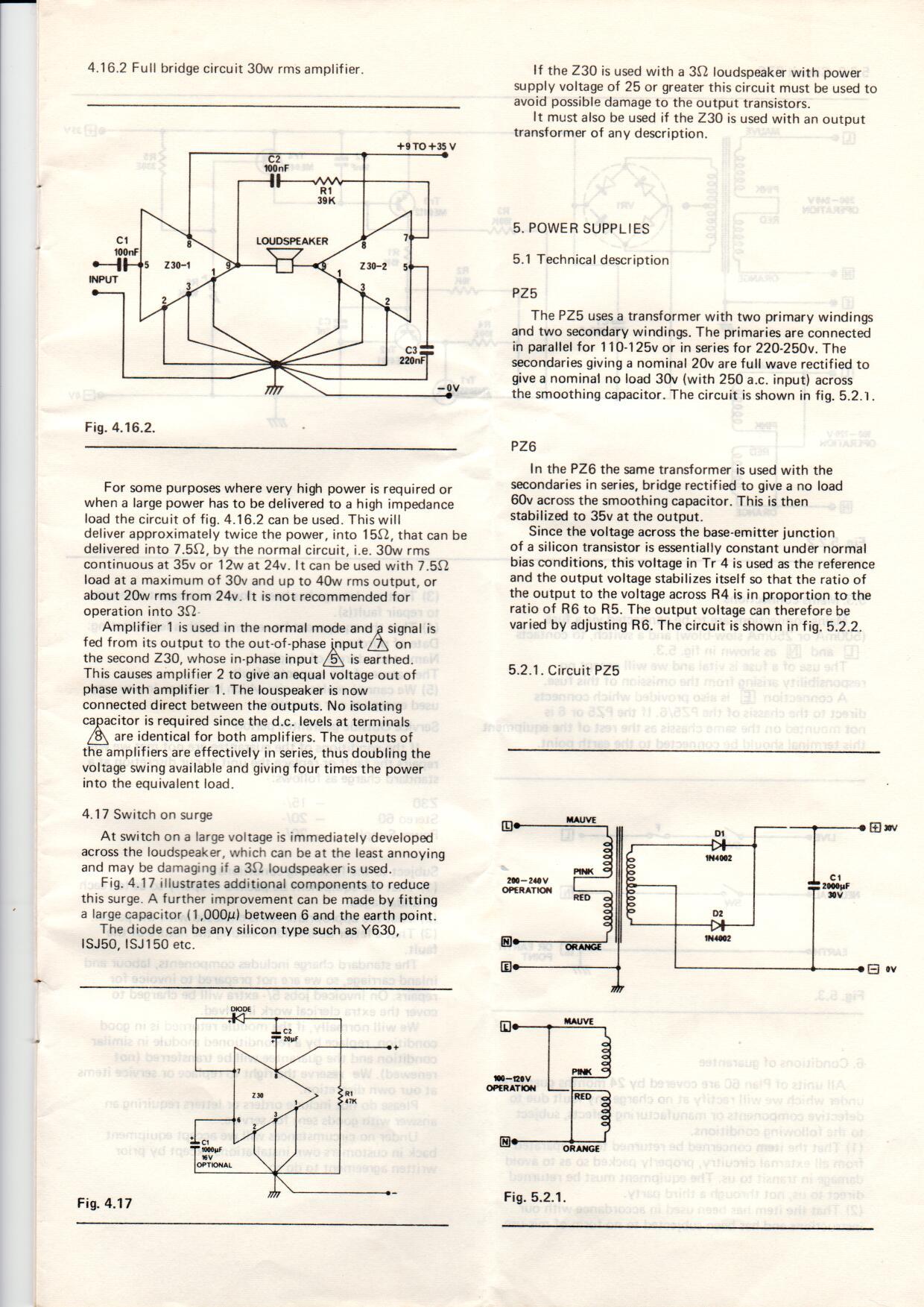 Sinclair Radionics Project 60 Manual Contents Amplifier Circuit Diagram Projects 521 Pz5